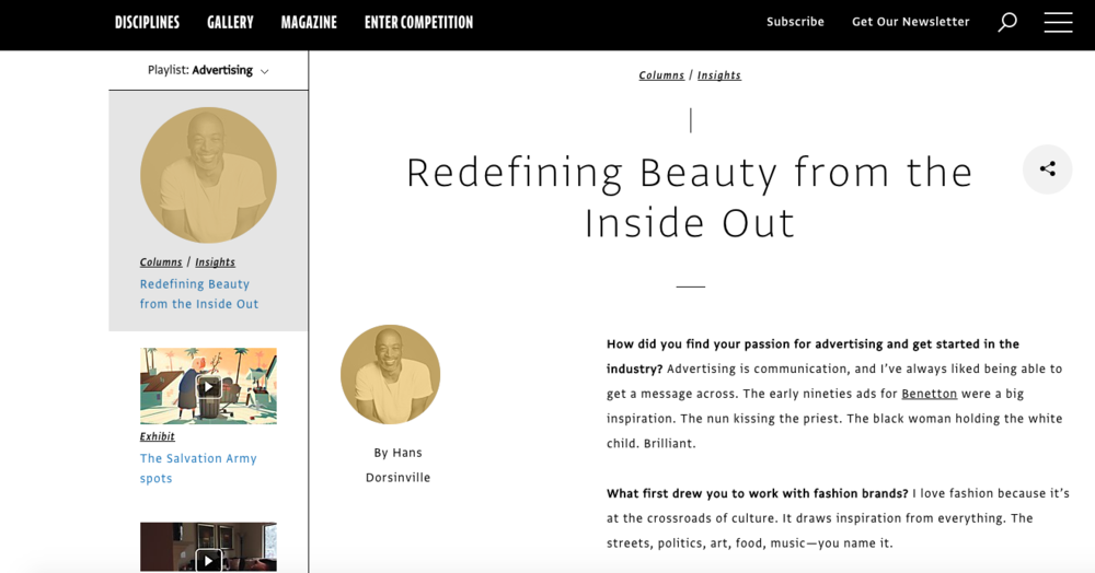 Comm Arts Insights Q&A: Redefining Beauty from the Inside Out