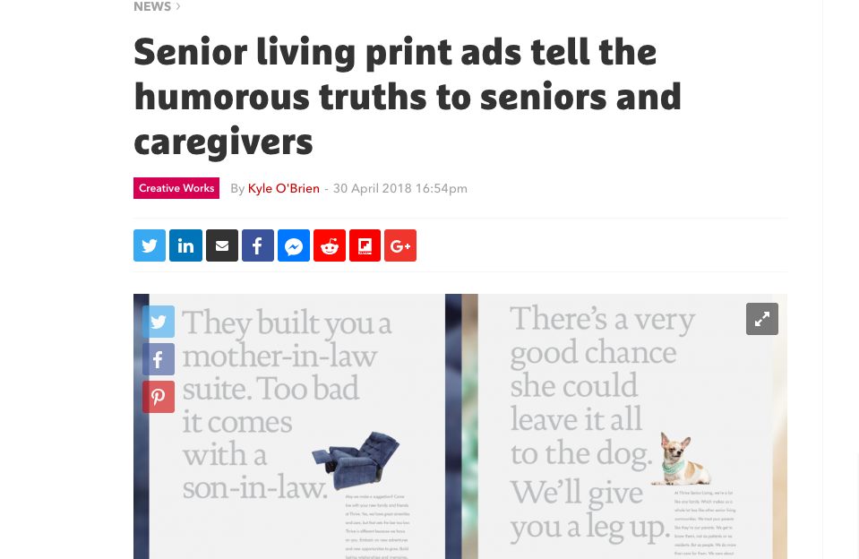 The Drum: Thrive Senior Living Campaign by My Friend's Nephew