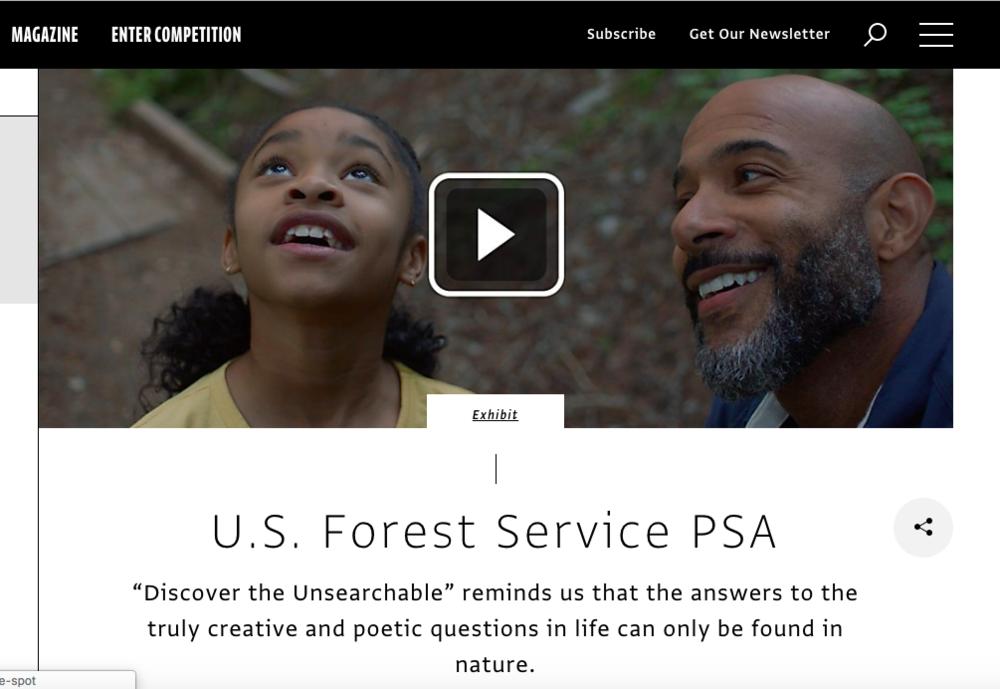 Comm Arts: U.S. Forest Service PSA