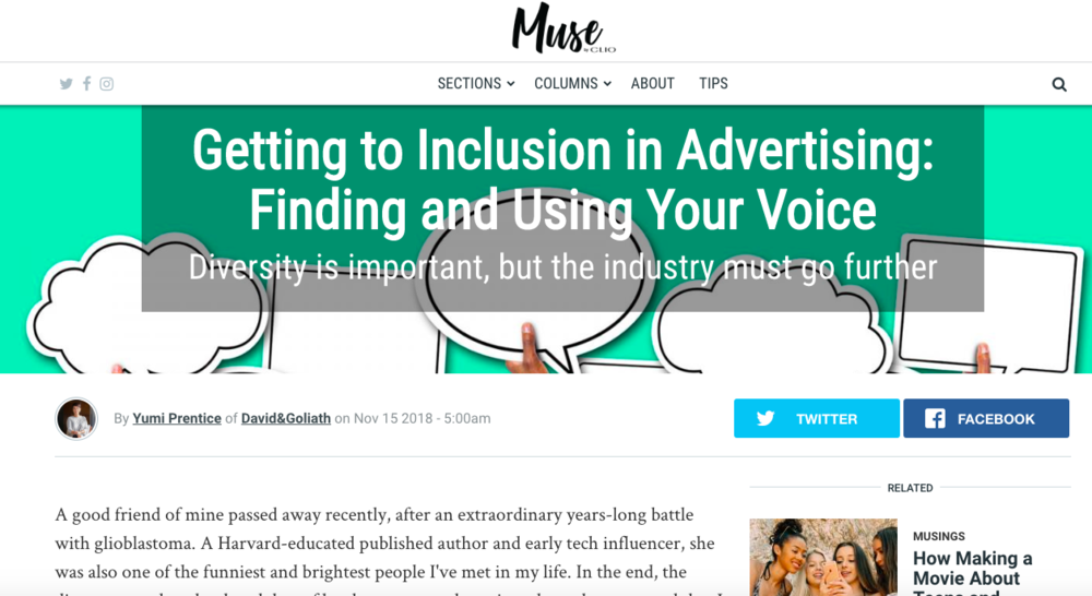 Muse by Clio: D&G's Yumi Prentice Finds Her Voice