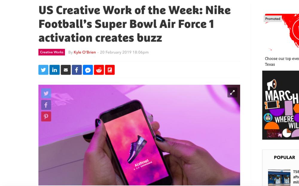 The Drum Creative Work of the Week: Nike AirDrop1
