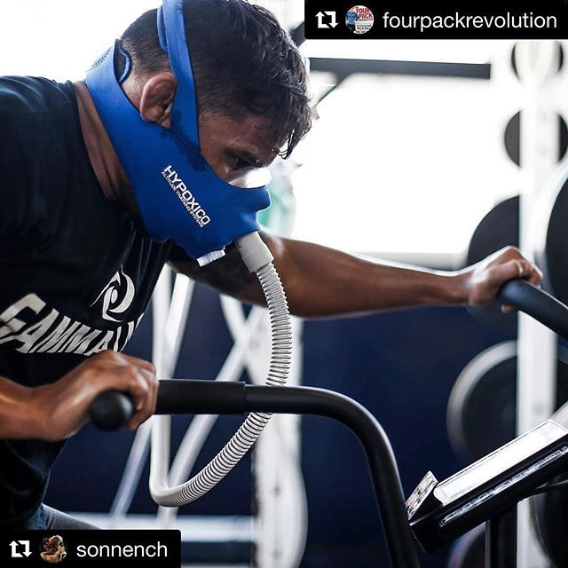 """#Repost @sonnench (@get_repost) ・・・ True... """"There is a difference between training for athletic competition and exercising for health and well-being."""" #fourpackrevolution @hypoxico @assaultairbike @gammalabs"""