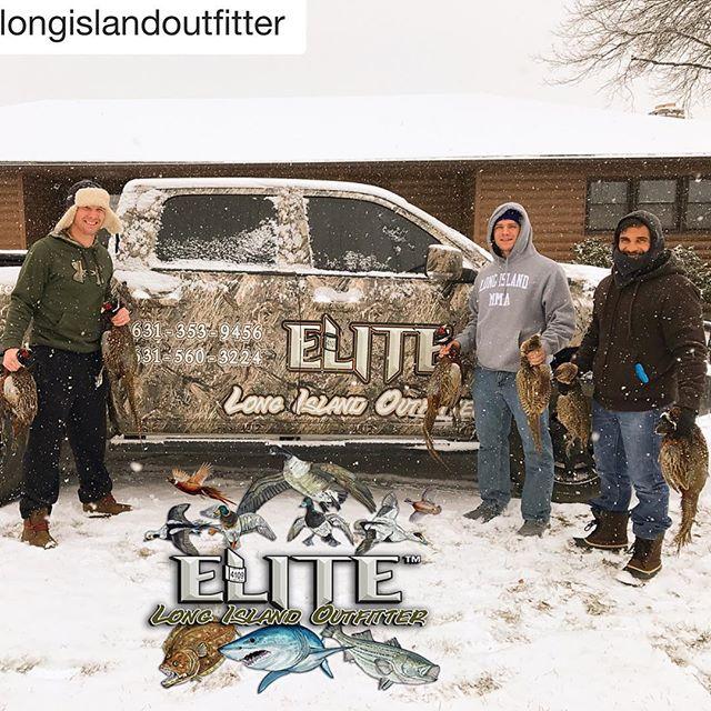 Awesome time hunting w/ @elitelongislandoutfitter along side my boys @laflaremma & @chriswademma