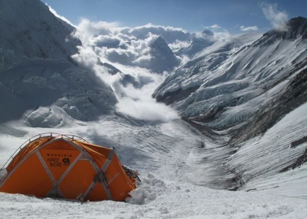 Camp 3 looking down Lhotse Face