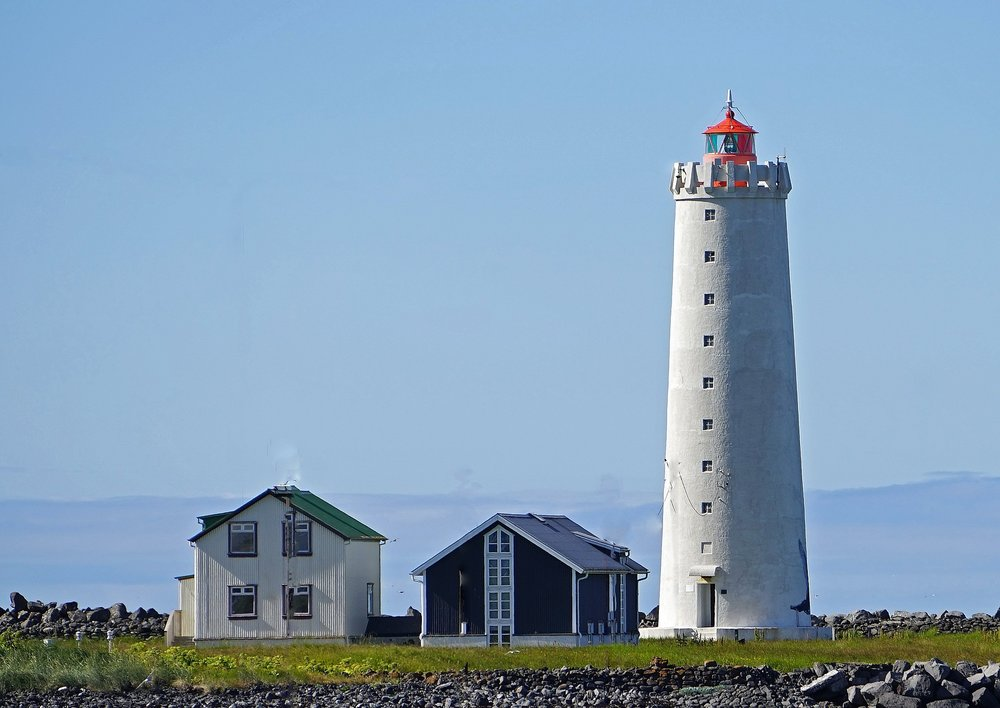 The lighthouse GROTTA in the town Seltjarnarnes, Iceland where I was born and raised.