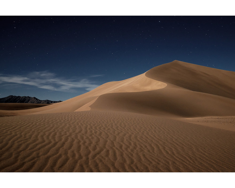 Amargosa Dune by Moonlight