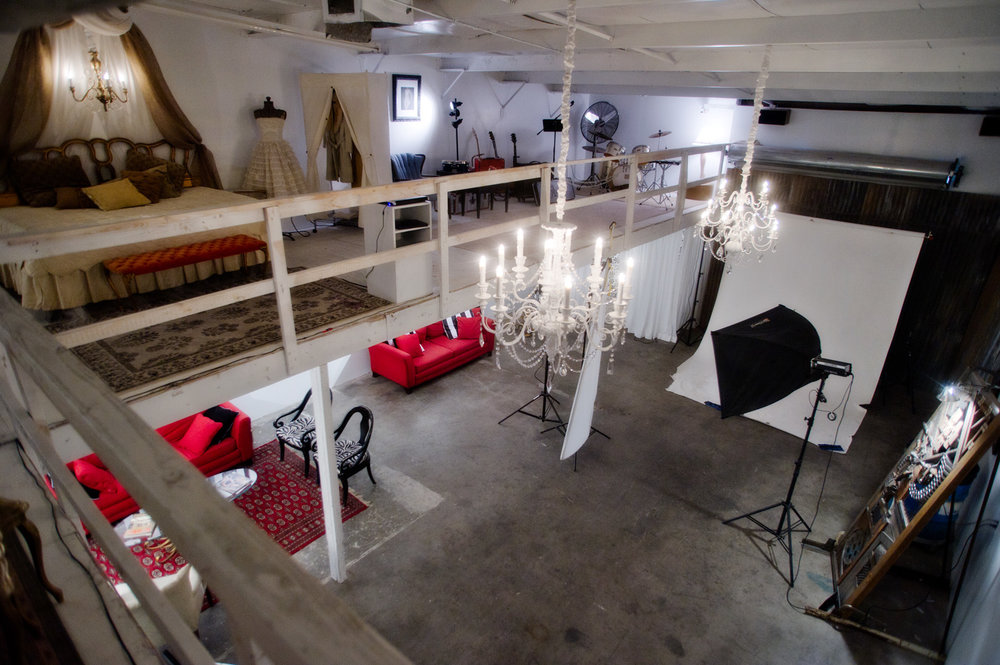 Studio space at Nick Adams Photography