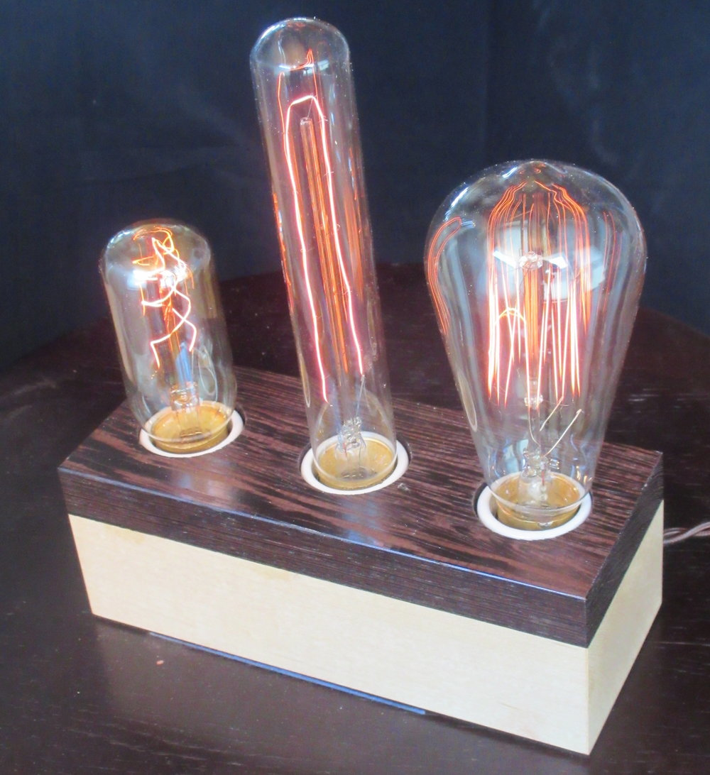 Wenge and Maple - 3 lamps