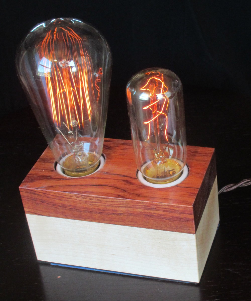 Bubinga and Maple - 2 lamps