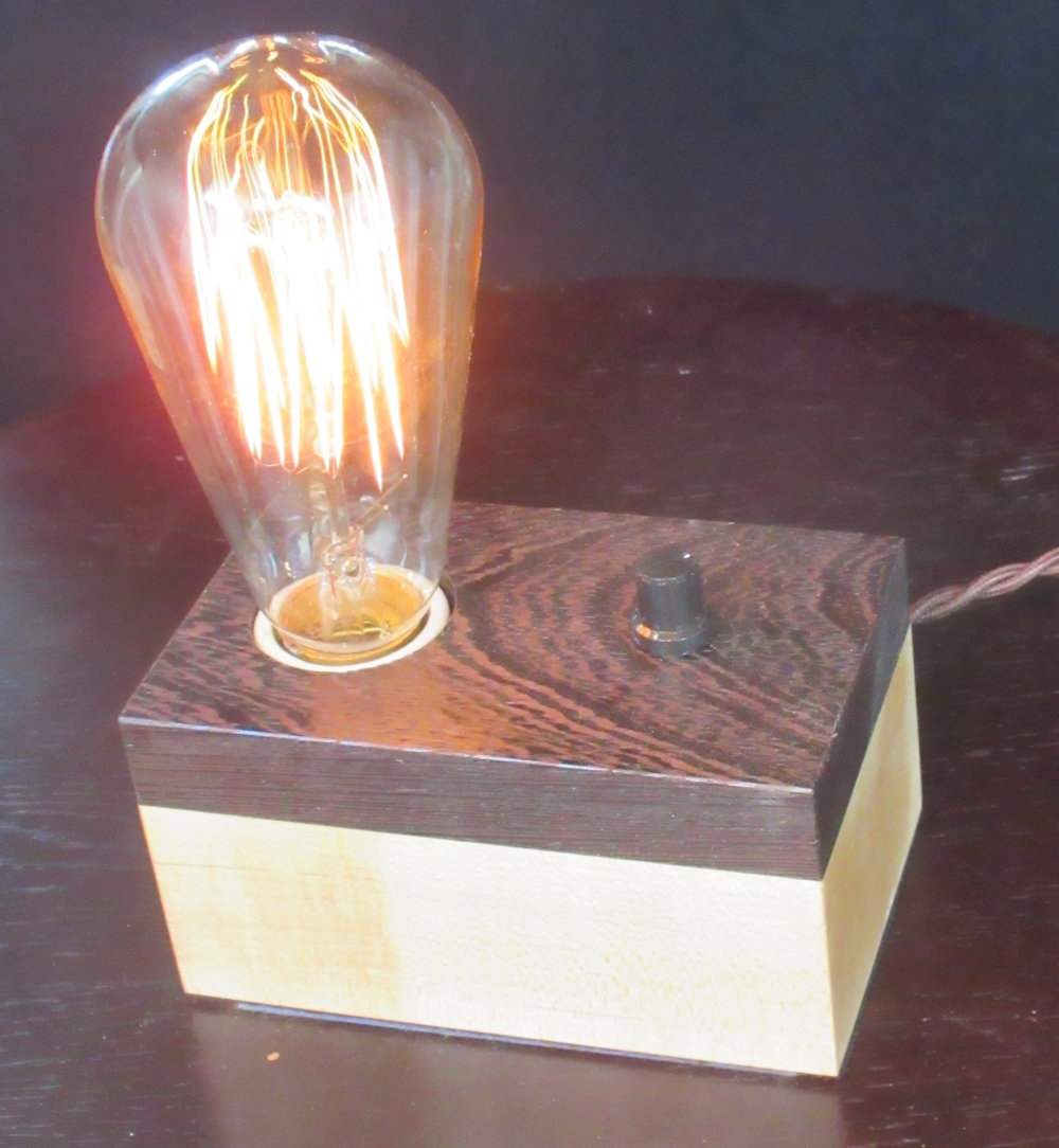 Wenge and Maple - 1 lamp