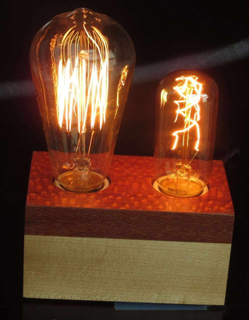 Lacewood and Maple - 2 lamps