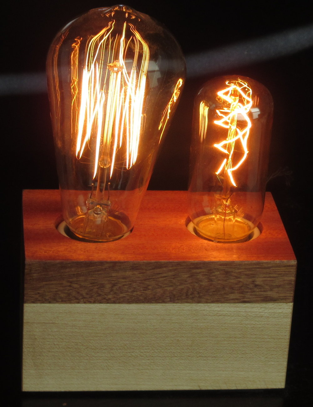 Sapele and Maple - 2 lamps
