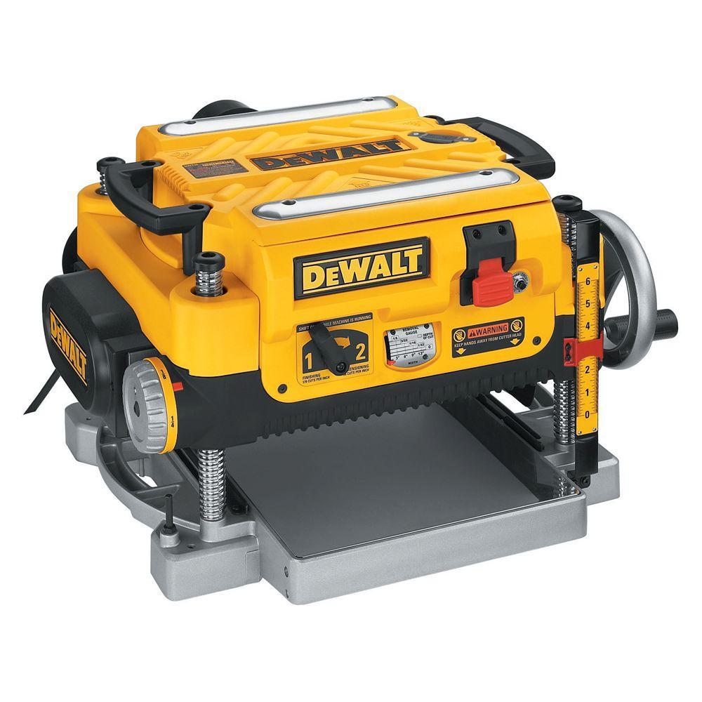 """The DeWalt DW735 13"""" wide surface planer I use."""