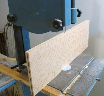 Typical resaw technique with a standard bandsaw.