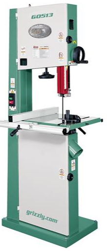 "The G0513 Grizzly Bandsaw that I use, with a 17"" throat."