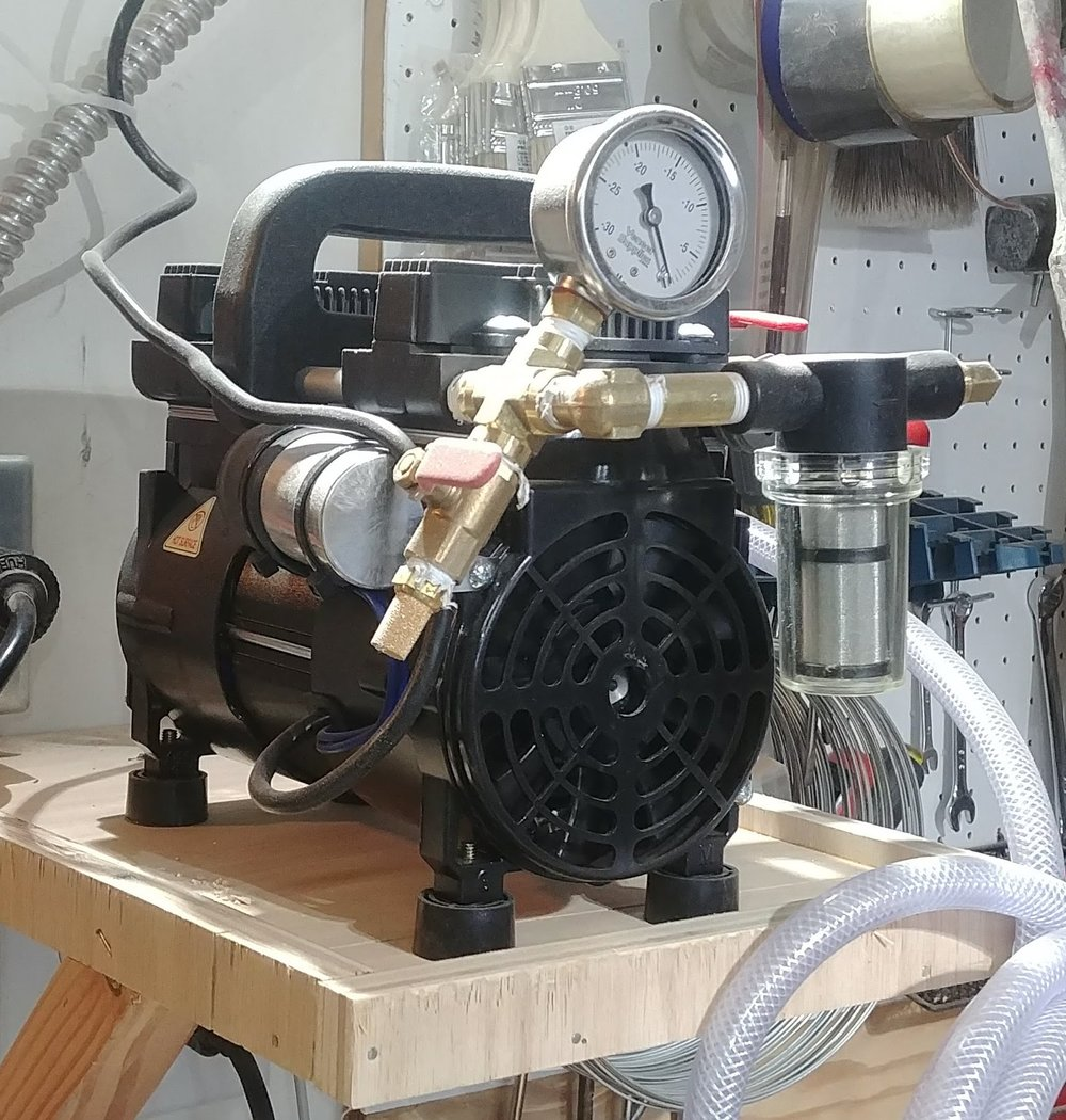 The Excel 5 vacuum pump I picked up.