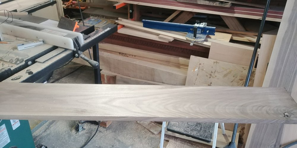 The raw material for the drawer faces