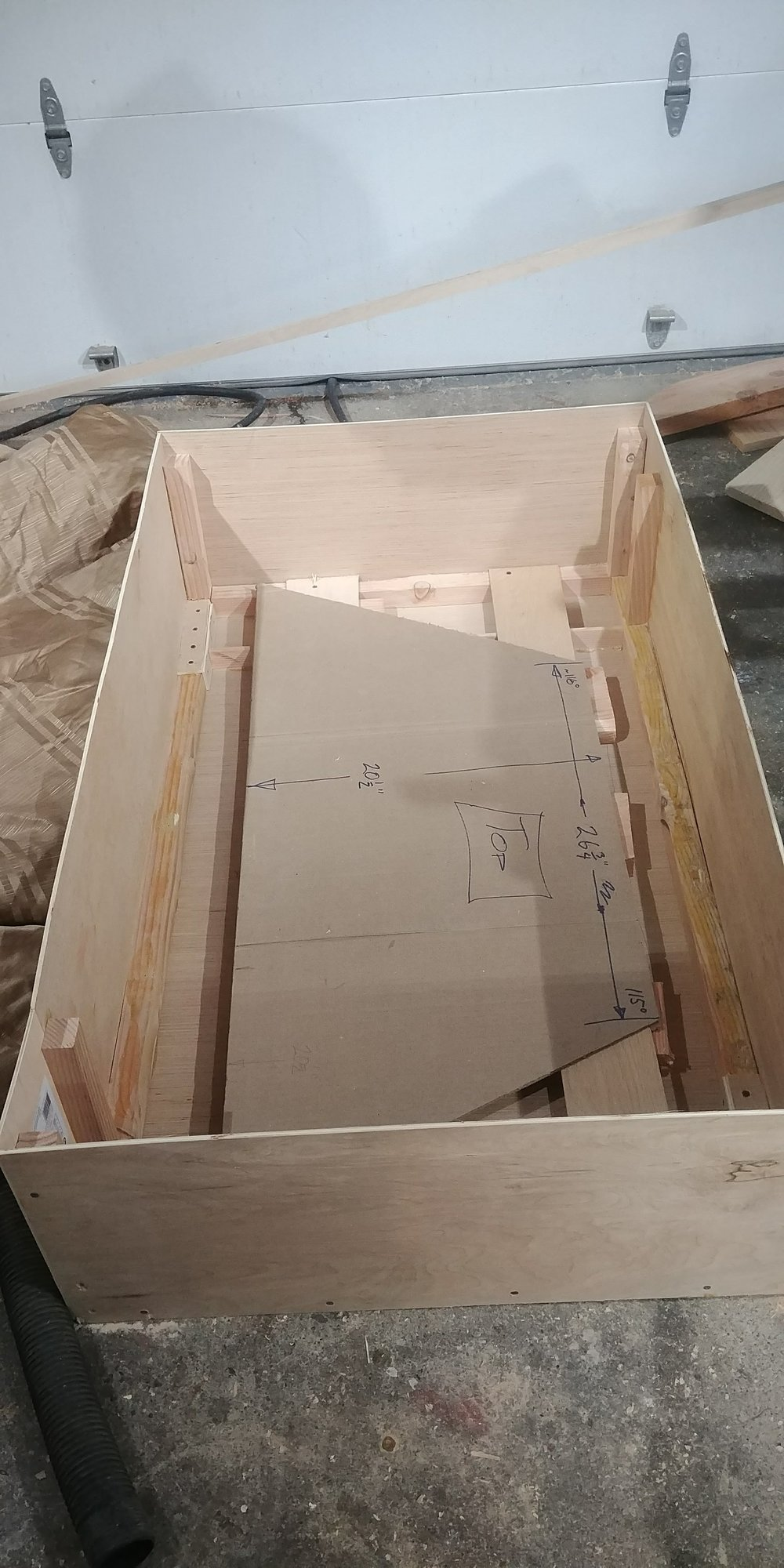 The crate, just big enough for the shelf and mirror, but just small enough to get through FedEx size (and weight) limitations