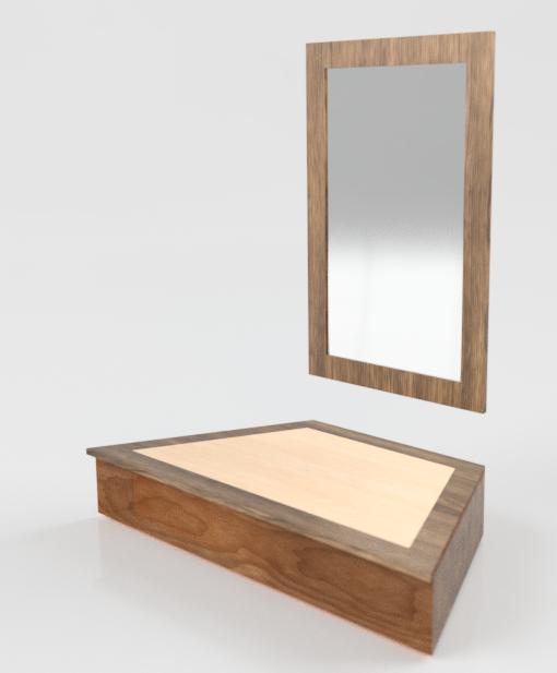 Entryway Shelf & Mirror