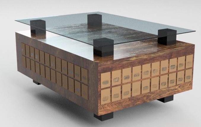Antique PO Box Coffee Table