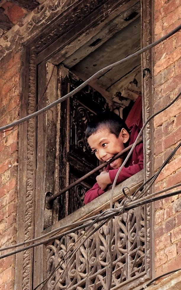 A typical Newari window; photo credit to Osman Khawaja