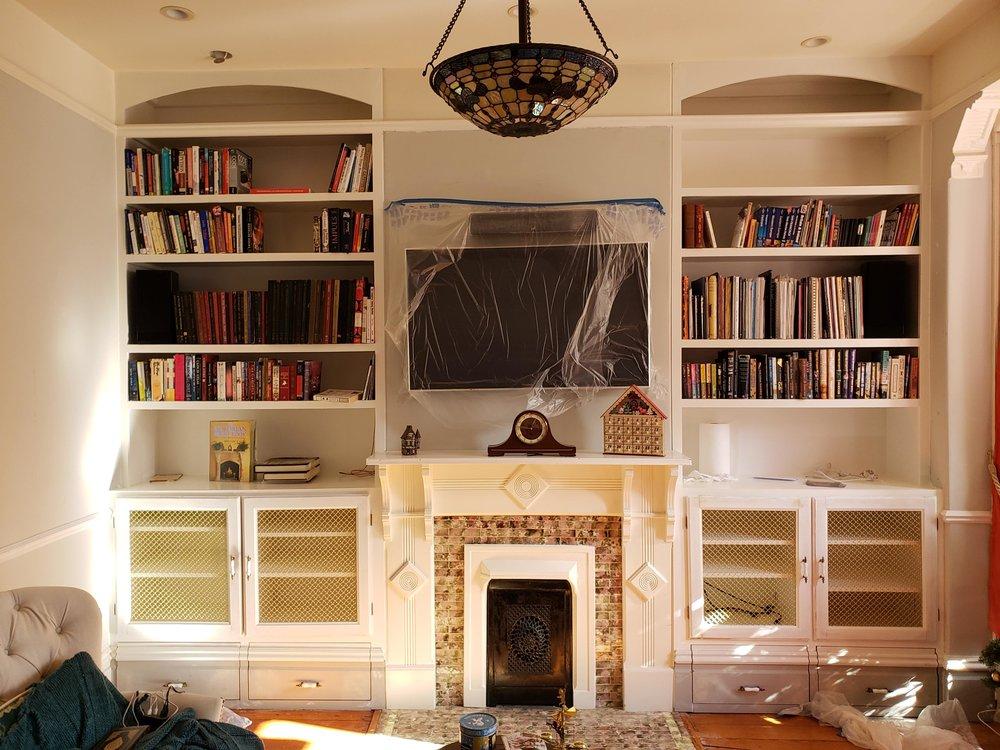 Victorian Built-in Bookshelves