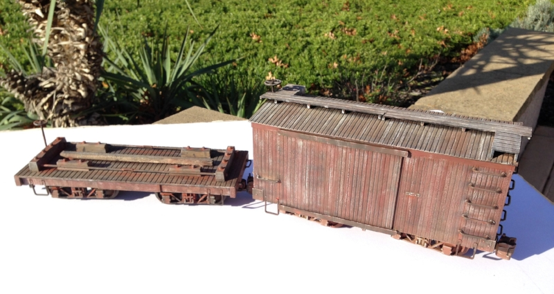 Bachmann Big Hauler cars cut down to 20-ftish