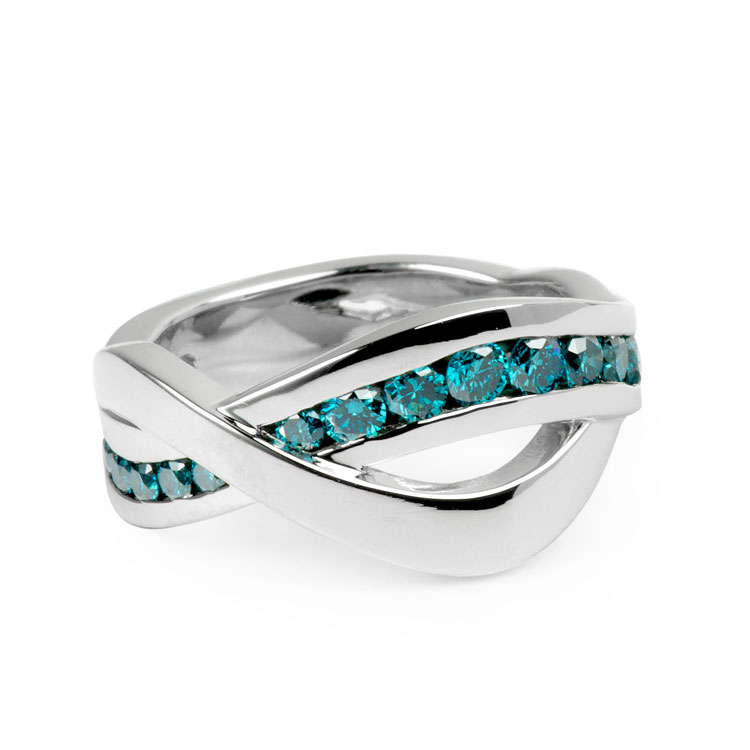 Lyrical blue diamond band