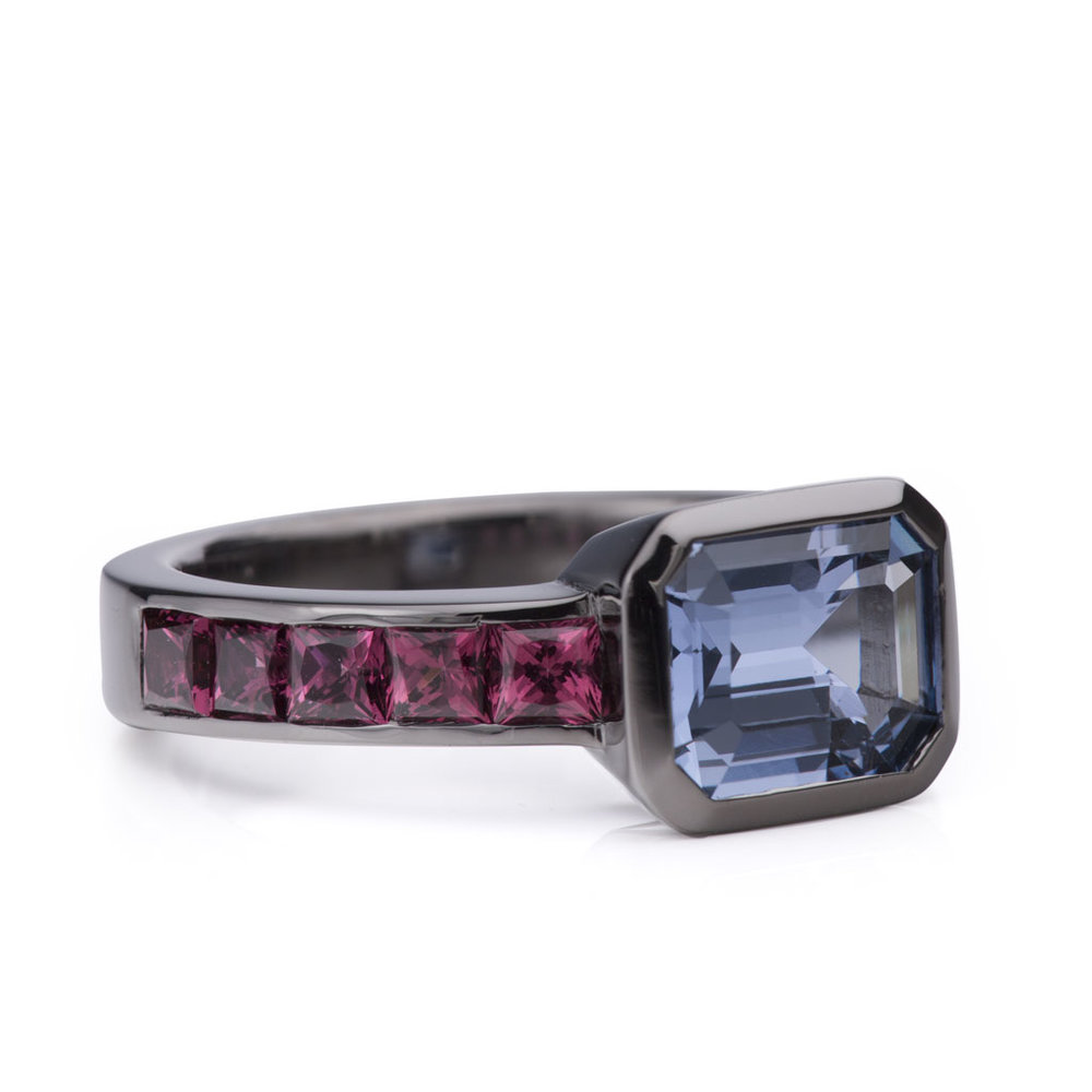 Spinel and Garnet Ring
