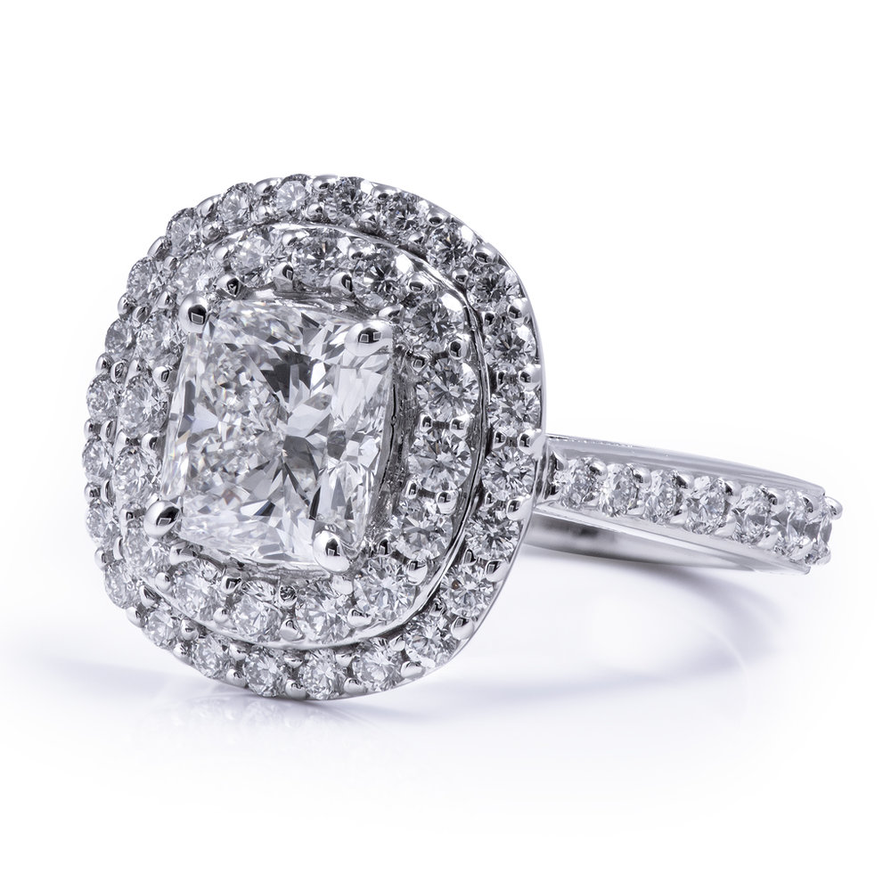 Double Halo Egagement Ring