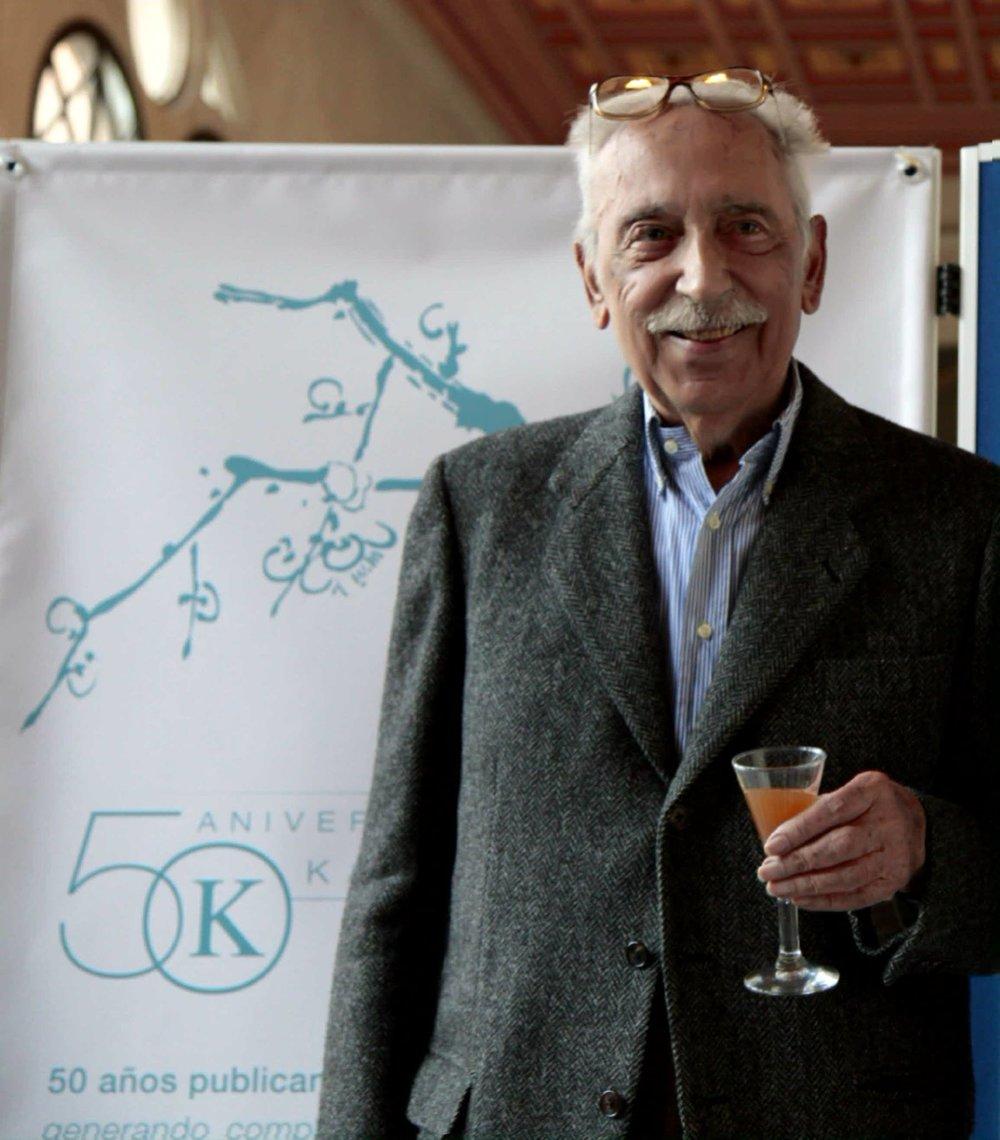 Salvador Pániker, en Barcelona, celebrando el 50 aniversario de la editorial que fundó en 1965.