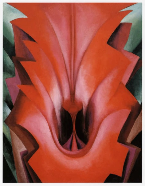 Georgia O'Keeffe,  Inside Red Canna , 1919.