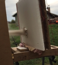 PHD-250 - Hitting exterior wall and pulverizinf the building material.