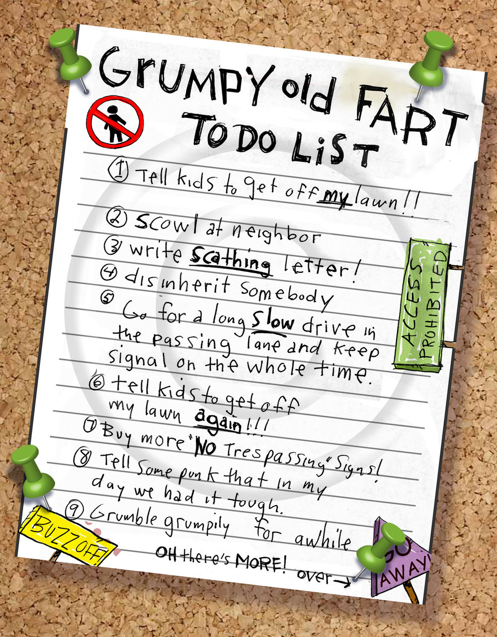 Grumpy Old Fart To-Do List.