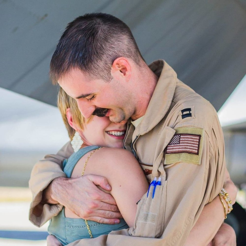 Military Homecoming Couple