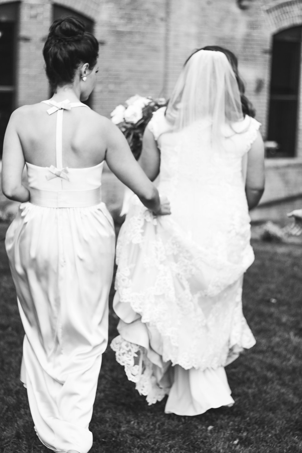 soft wedding image bridesmaid bride wedding photo