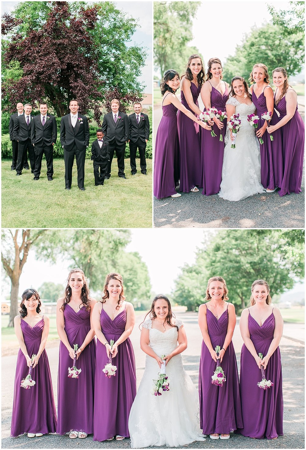 bridal party poses