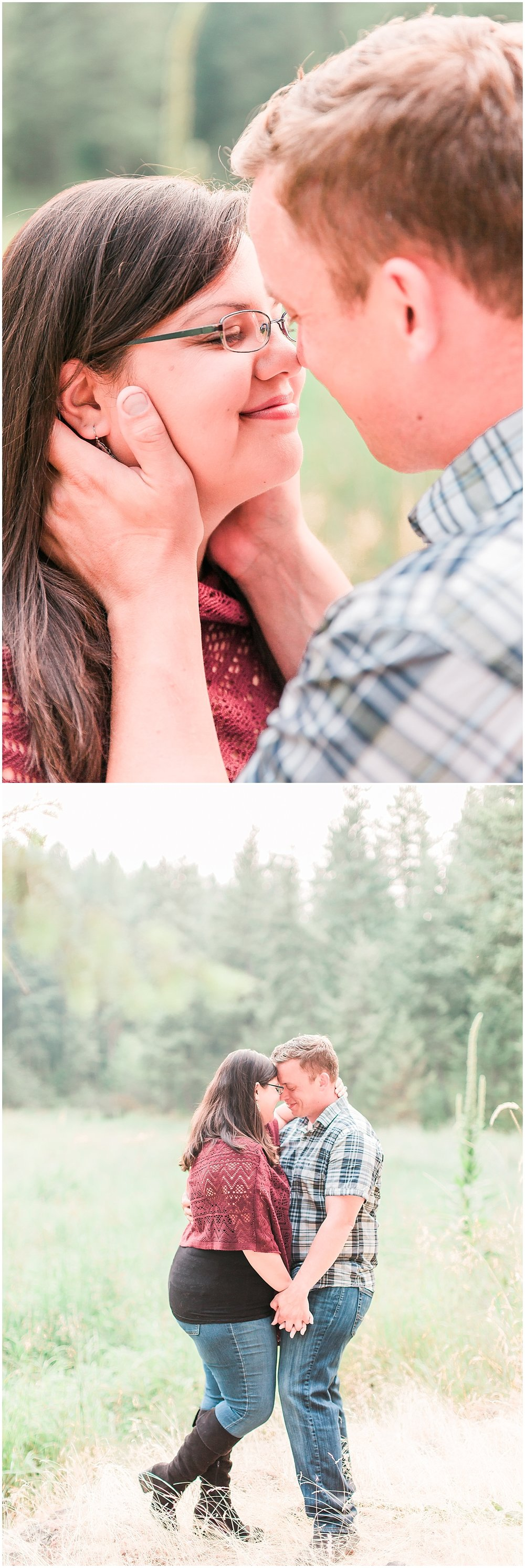 outdoor engagement photos in spokane
