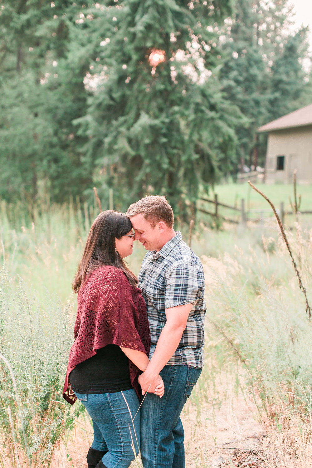 golden hour engagement session photo
