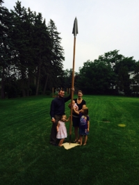 Family with spear