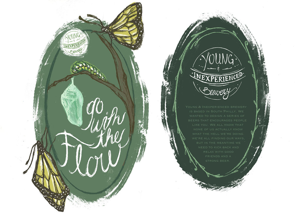 Young & Inexperienced Brewery Packaging Design