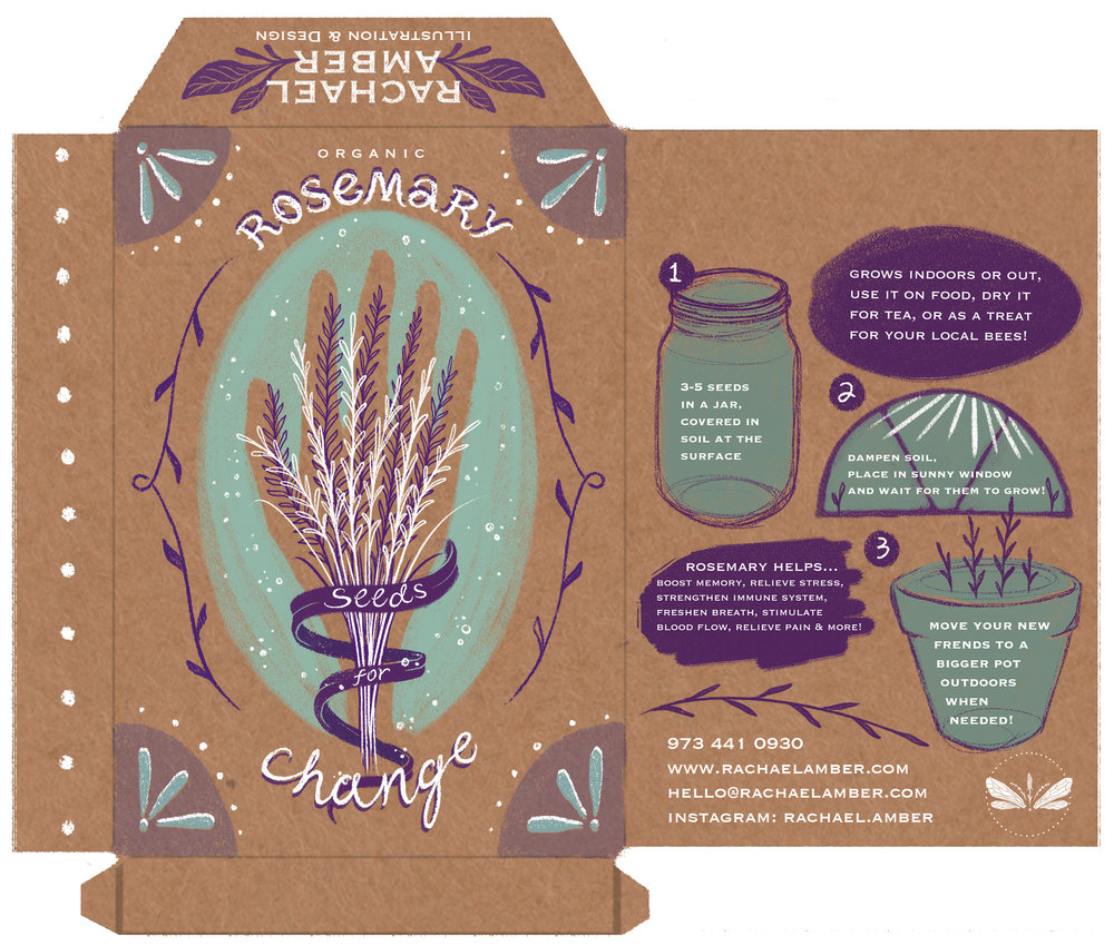 Seed packet promotion - to be filled with real seeds for your garden!