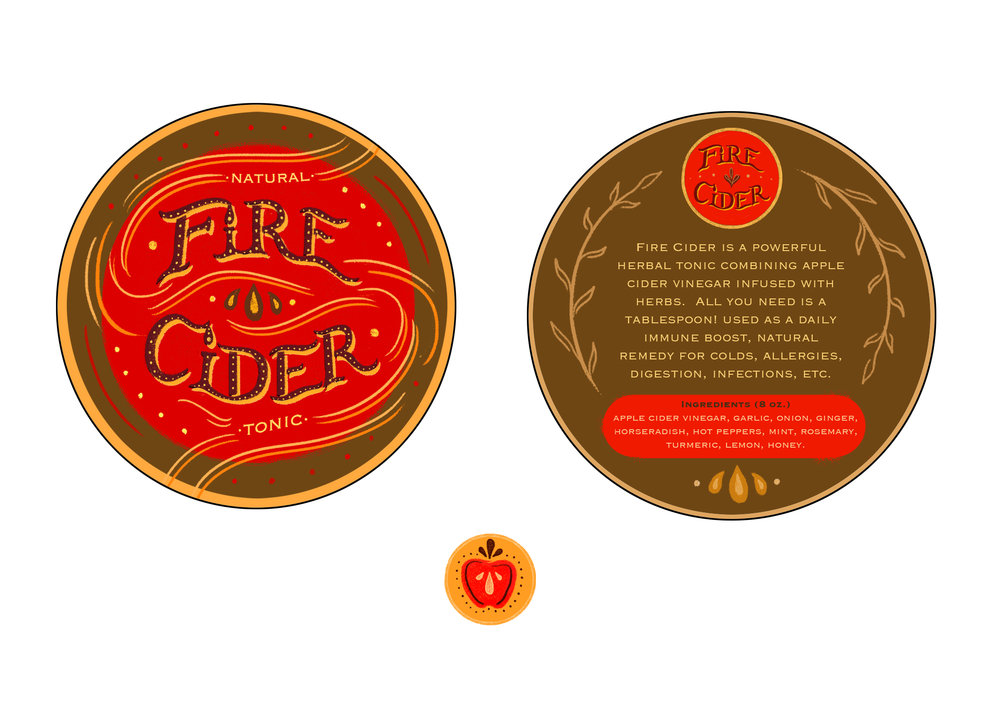 Packaging Label for Fire Cider Natural Tonic