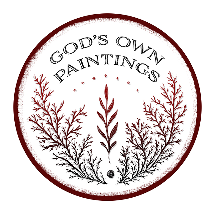 "Logo design for ""God's Own Paintings"" Lapidary Arts in India."