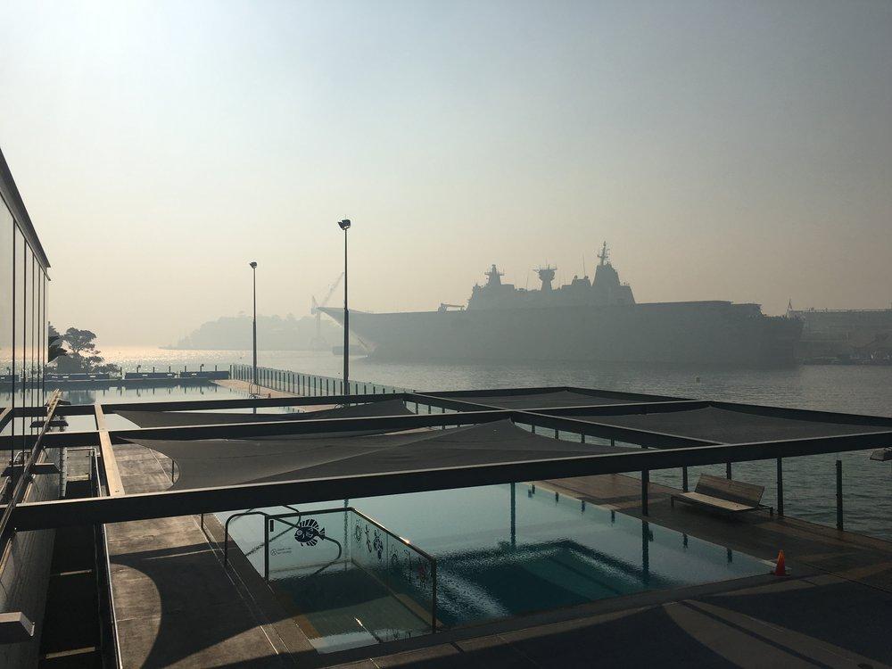 Smokey morning at ABC