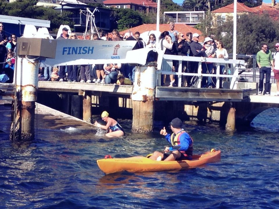 Finish line, South Head Roughwater, 2013