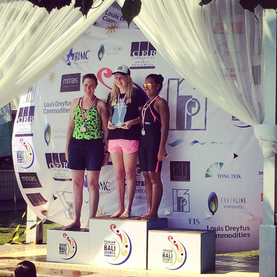 3rd place, Bali 10km (not really 10km, and I think there were only 4 swimmers)