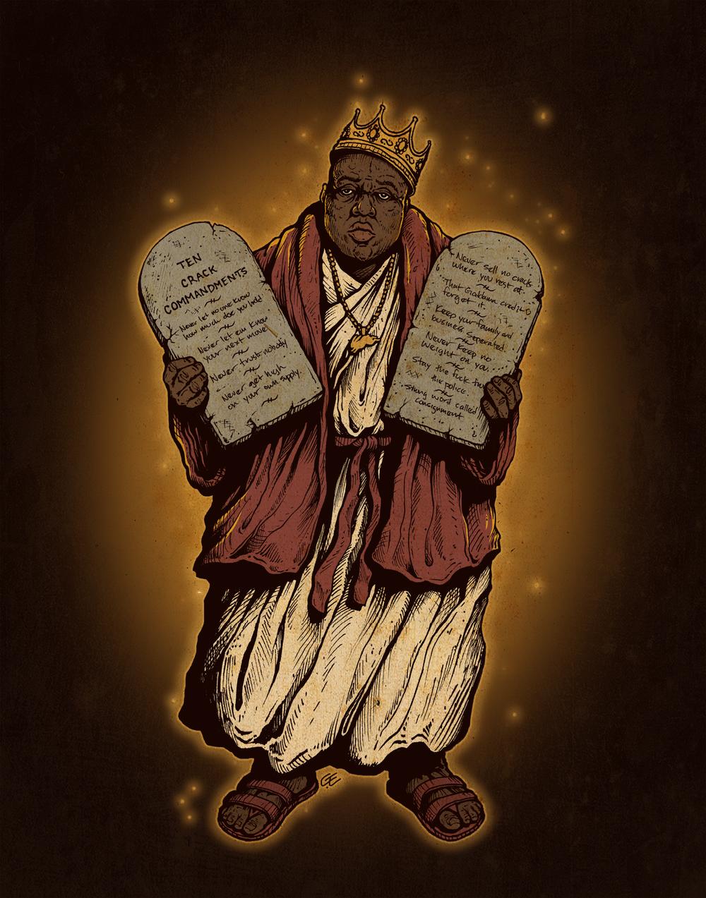 biggie ten crack commandments color portrait print.png