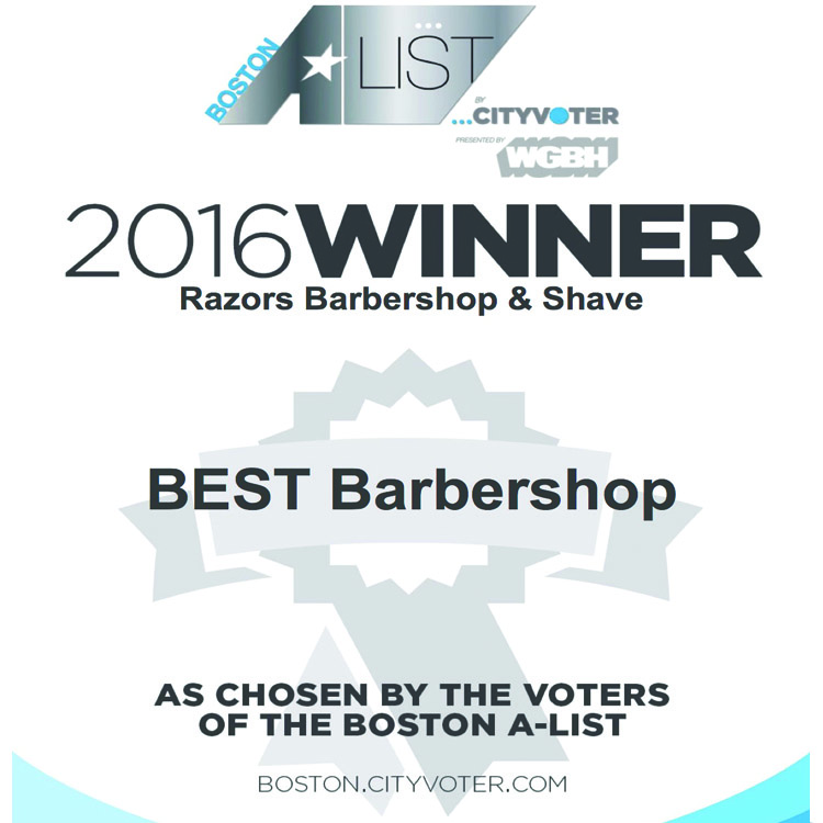 Voted 2016 WGBH Boston's A-list Best Barbershop
