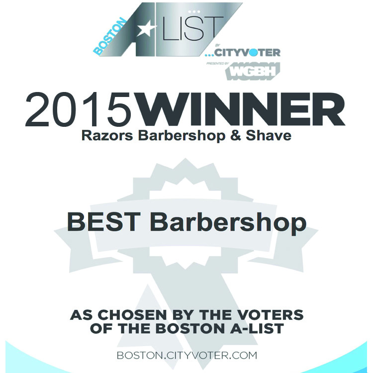 Voted 2015 WGBH Boston's A-list Best Barbershop